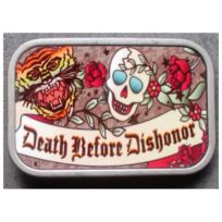 Boucle de ceinture death before dishonor style tattoo rockab. UNIVERSEL ... 823e441e8dc