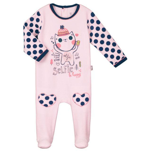 cfdd1c9fdf56a Petit Beguin - Pyjama bébé velours Selfie Happy - Taille - 36 mois ...