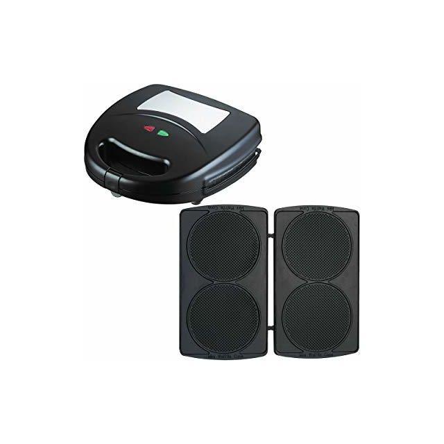 Syntrox Germany Mini gaufrier avec plaques de cuisson interchangeables Sm-1300W