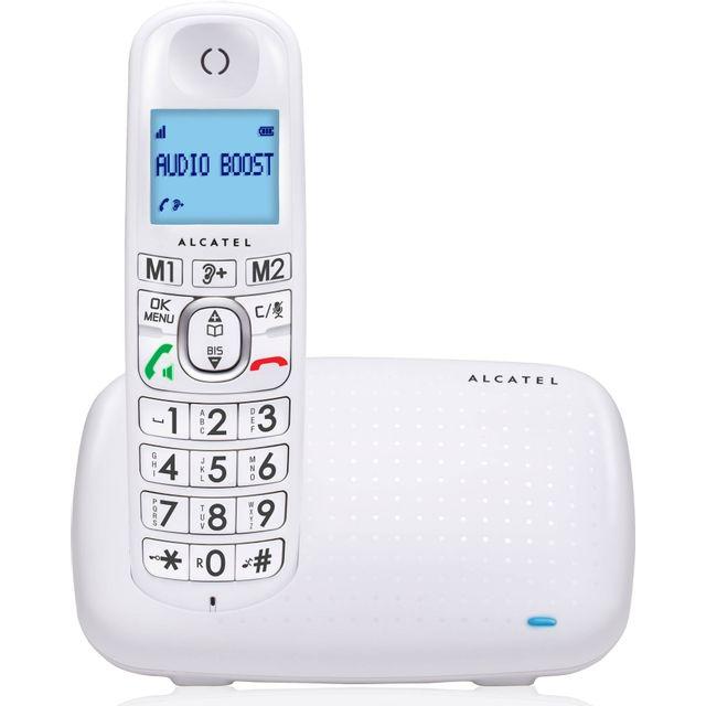 ALCATEL Téléphone Fixe Sans fil sans répondeur - XL 385 - Solo Blanc ■ La fonction répondeur du XL385 Voice simple à utiliser: ■ Des touches d'accès sur la base ■ Un compteur pour être informé de l'arriv&eacut