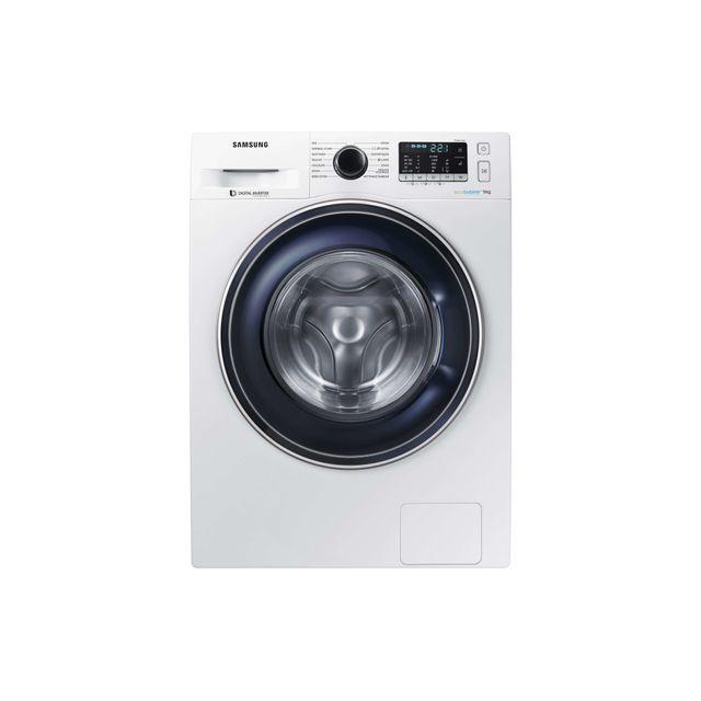 Samsung Lave-linge - WW90J5455FW - Blanc Capacité de lavage : 9 Kg - 1400 tours/min - 14 programmes - Arrêt différé - Sécurité enfants