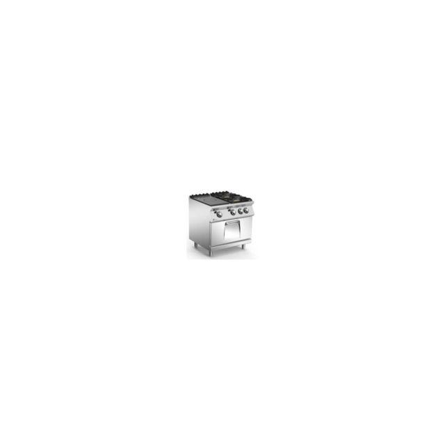 Frinox Fourneau À Gaz Frpcf800 - Gn2/1 - 2 Feux + Plaque