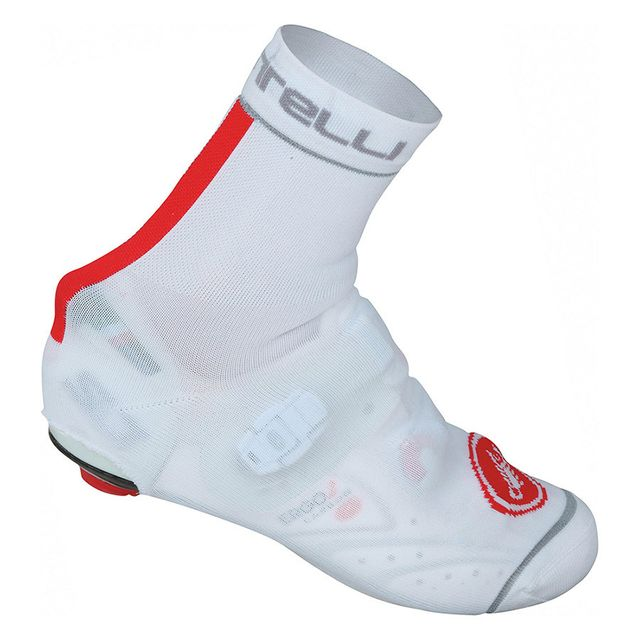 Castelli Couvre-chaussure Belgian Bootie 4 blanc rouge