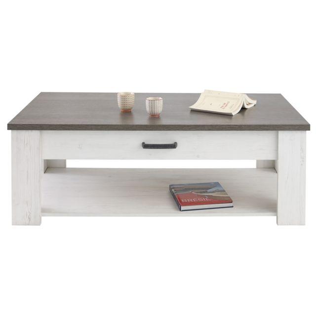 HABITAT ET JARDIN Table basse Marquis - 120,3 x 64.3 x 40,5 cm - Pin Andersen