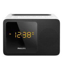 PHILIPS - radio réveil double alarme noir blanc - ajt5300w/12