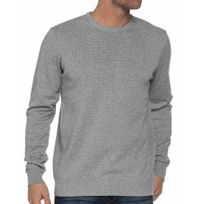 Casual Friday - Pull Gris A Motifs Col Rond