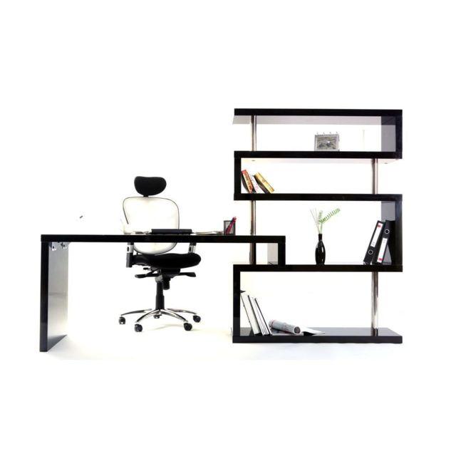 Miliboo Bureau Design Noir Laque Amovible T Max Pas Cher Achat