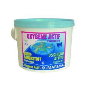Mareva vigipiscine produit de traitement oxyg ne actif reva choc en table - Traitement piscine a l oxygene actif ...
