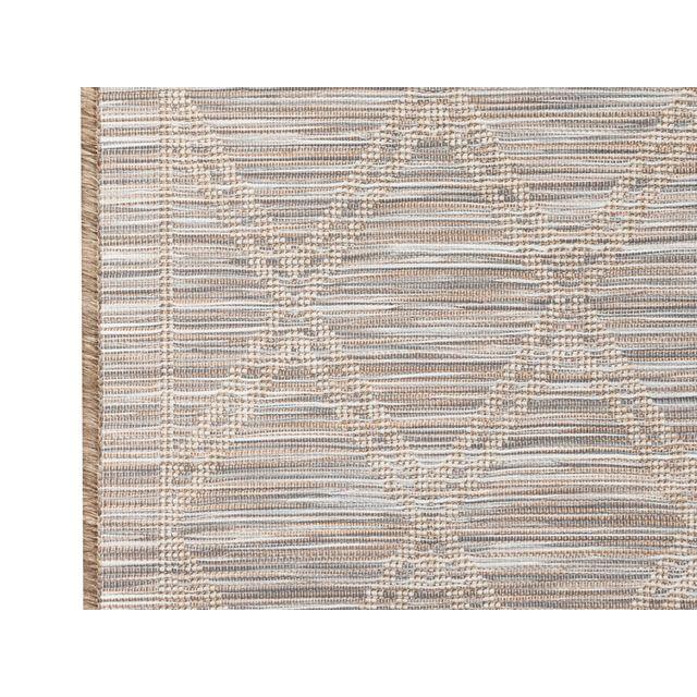 Akhal - Tapis intérieur/extérieur tissé plat motif losange gris/brun Utan - 80x200cm