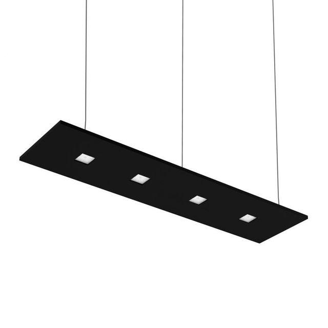 Nowleds Laris - Suspension Led 4 lumières Noir lumière neutre L120cm - Suspension designé par