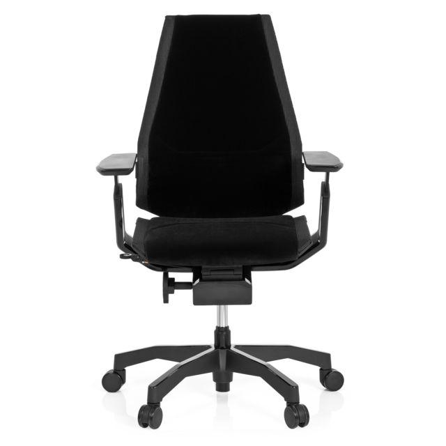 Hjh Office Chaise de bureau / Fauteuil de direction Genidia Black tissu noir