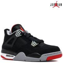 Jordan - Nike Air 4 Retro Iv Bred 308497-089 Black/Cement Grey-Fire RedAir 100% authentique