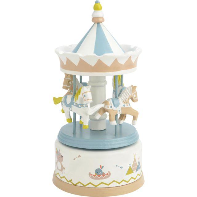 AMADEUS LES PETITS - Carrousel manège musical bois pour enfant