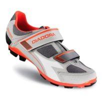 Diadora - Chaussures X-phantom Ii gris violet rouge fluo