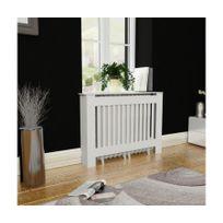 Rocambolesk - Superbe Cache-radiateur Blanc Mdf 112 cm neuf