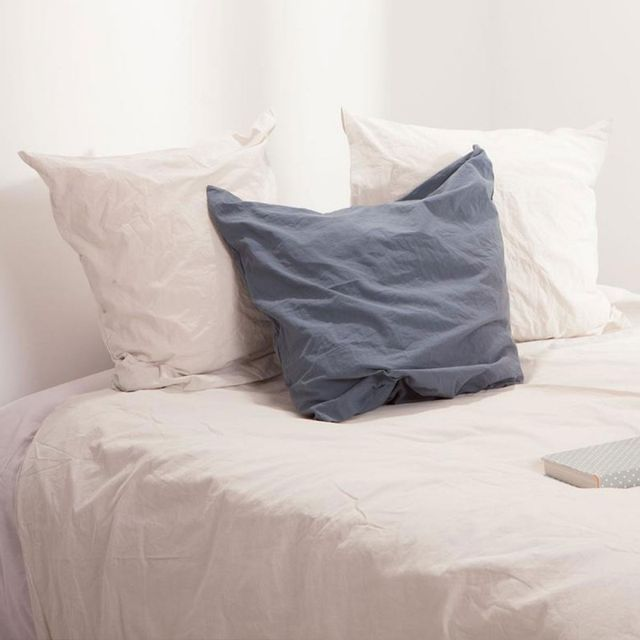 paris prix parure de lit 3 pi ces coton lav 240x260cm lin beige nc pas cher achat. Black Bedroom Furniture Sets. Home Design Ideas