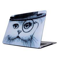 Wewoo - Housse Étui Pour Macbook Pro 13.3 pouces 2011 - 2012 A1278 / Md313 / Mc724 / Md101 / Md314 / Md102 chat en chapeau modèle ordinateur portable autocollants d'eau Pc de protection
