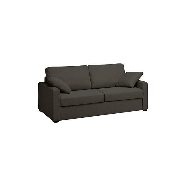Canapé 3 places fixes en polyester noir