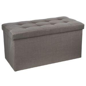 maison futee banquette avec coffre de rangement taupe gris pas cher achat vente poufs. Black Bedroom Furniture Sets. Home Design Ideas