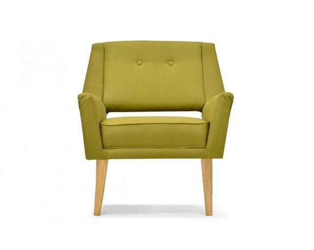Remarquable Fauteuil design rétro vert