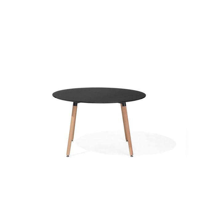 BELIANI Table de salle à manger noire 120 cm BOVIO - noir