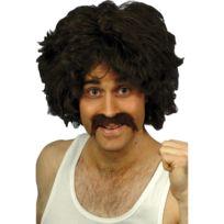 Marque Generique - Perruque playboy retro noir avec moustache