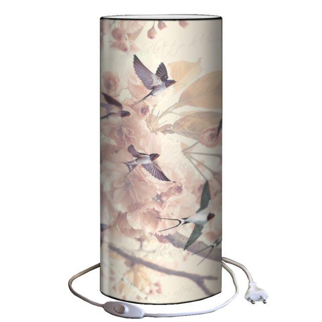 PLAGE DES DEMOISELLES Lampe à poser hirondelles 30x12cm