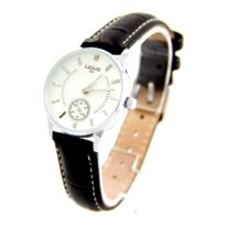 Wave Femme - Montre Femme Simple en Cuir Noir Wave 1941