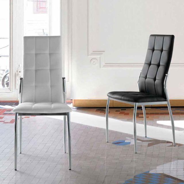 Nouvomeuble Chaise design grise Alban lot de 4