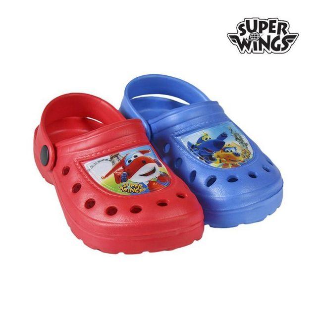 0cdeeb67587ea Sandales de bain de Plage pour enfant Super wings - Chaussure sabot Couleur  - Rouge