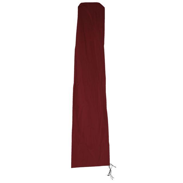 Mendler Housse de protection N22 pour parasol jusqu'à 3,5 m, gaine de protection avec zip ~ bordeaux
