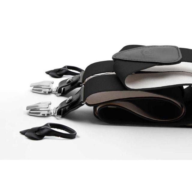 Les Bretelles De LÉON Bretelles amovibles Noir New Deal - Les Bretelles de Léon