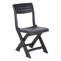ALLIBERT - BALCON - Chaise pliante Tacoma Anthracite