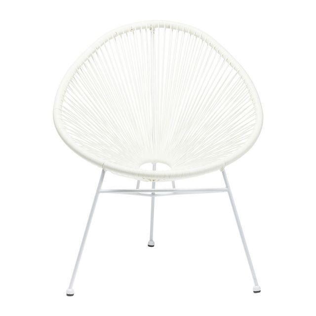 Karedesign Fauteuil de jardin Spaghetti blanc Kare Design