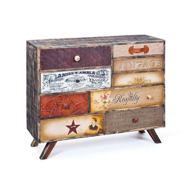 Paris Prix Commode 9 Tiroirs Oklahoma Multicolore