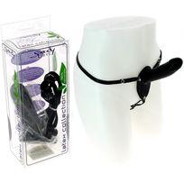 Spoody Toys - Gode ceinture en latex noir - 14 cm