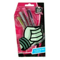 Polymark - Mhgp - Fourniture Scolaire - Monster High - Set De 4 Stylos Gel De Couleur