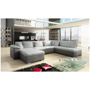 soldes chloe design canap d 39 angle convertible en u alta iii angle gauche gris 342cm x. Black Bedroom Furniture Sets. Home Design Ideas