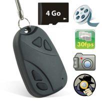 Shopinnov - Camera espion Clé de voiture enregistreur Dvr 4 Go