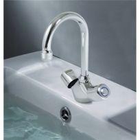 - Robinet mélangeur lavabo vasque en laiton chromé Bonde vidage métal