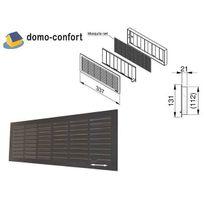 Doco - Grille de ventilation Noire 132x338 intérieur, verrouillable/ obturable