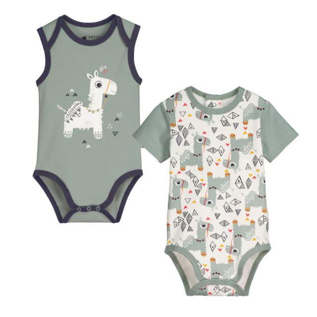 Petit Beguin - Lot de 2 bodies bébé garçon Marocco - Taille - 12 mois 6de6256e7ec