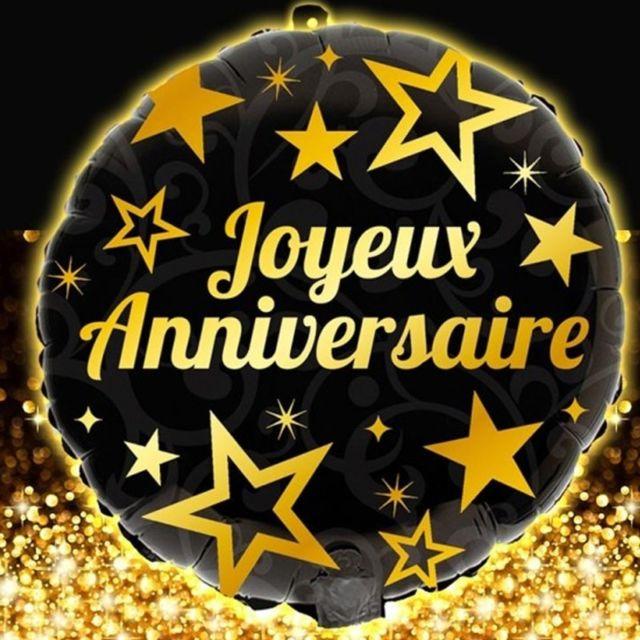Generique 2 Ballons Alu Joyeux Anniversaire Or Pas Cher Achat