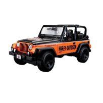 Maisto - 2043057 - Maquette De Voiture - Jeep Wrangler Rubicon - Noir/ORANGE - Echelle 1/24