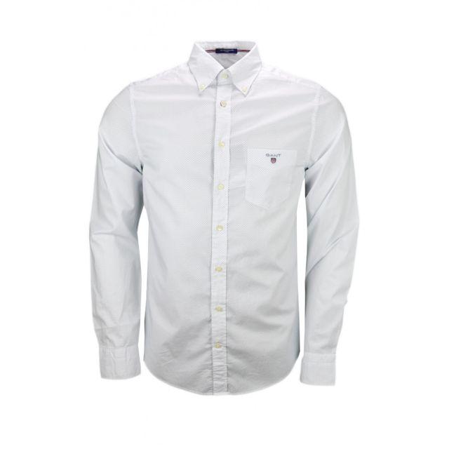 gant chemise pois blanche et bleu pour homme pas cher achat vente chemise homme. Black Bedroom Furniture Sets. Home Design Ideas