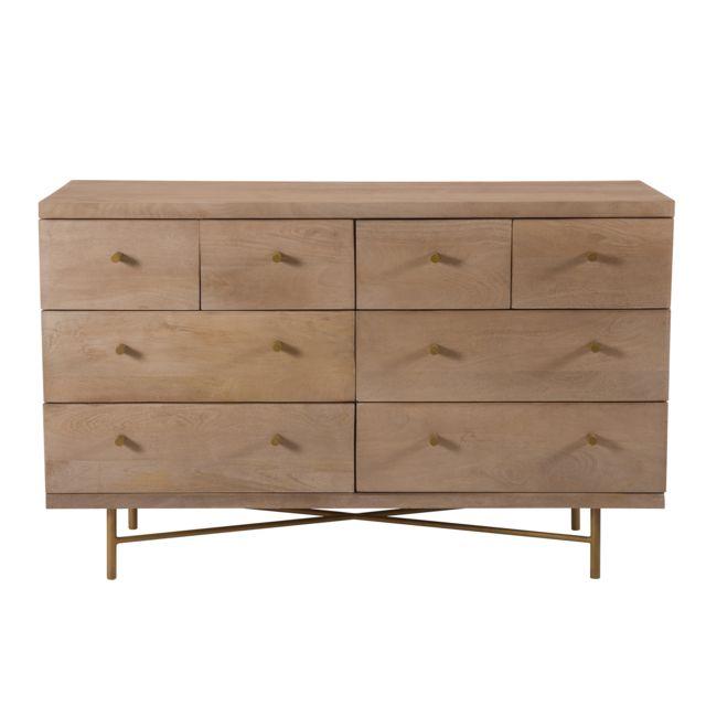 Rendez Vous Deco Commode Bran en bois 8 tiroirs