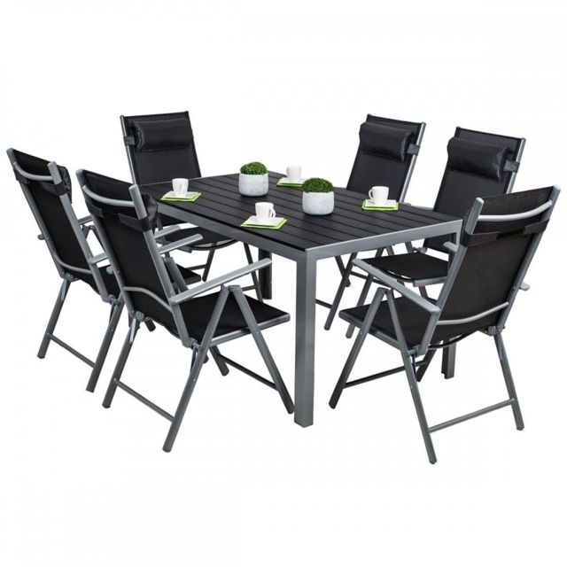 Homekraft cordoba plus salon de jardin 6 chaises table - Table plus chaise de jardin pas cher ...