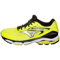 Mizuno - Wave Inspire 12 Noire Et Jaune Fluo Chaussures de running homme