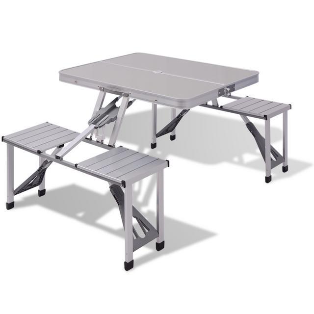Vidaxl Table de pique-nique en aluminium