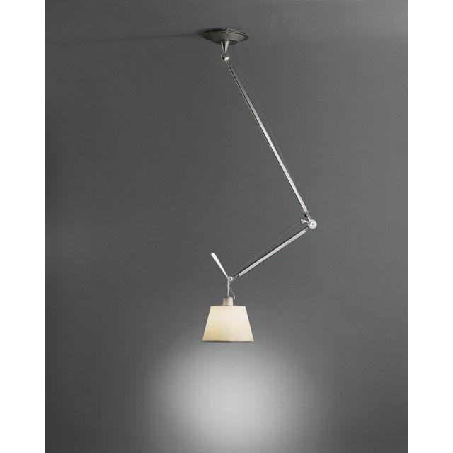Lampe à pendentif Tolomeo Decentrata - parchemin - Ø 24